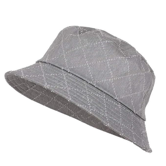 bf562291f233f SFE Lady Sun Hat Summer Beach Hat Bucket Cap Fisherman Flat Cap Black at  Amazon Women s Clothing store