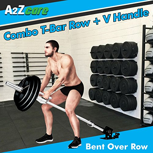A2ZCARE Tricep V Shaped Press Down Bar (T-Bar Row + V Handle) by A2ZCARE (Image #2)