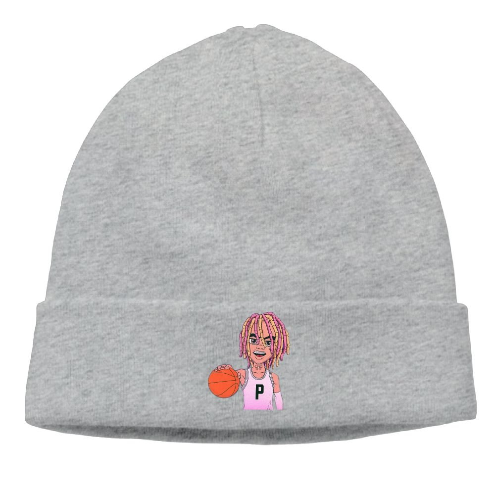 Lil Pump Playing Basketball Cartoon D-Rose Cable Knit Skull Caps Thick Soft    Spring Autumn and Winter Beanie Hats for Women   Men Cotton Hat Unisex Cap 57329f054b0