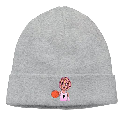 Lil Pump Playing Basketball Cartoon D-Rose Cable Knit Skull Caps Thick Soft    Spring 65f16c8716a