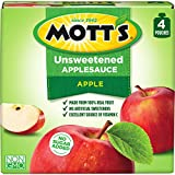 Mott's Unsweetened Applesauce, 3.2 Ounce Pouch, 4 Count