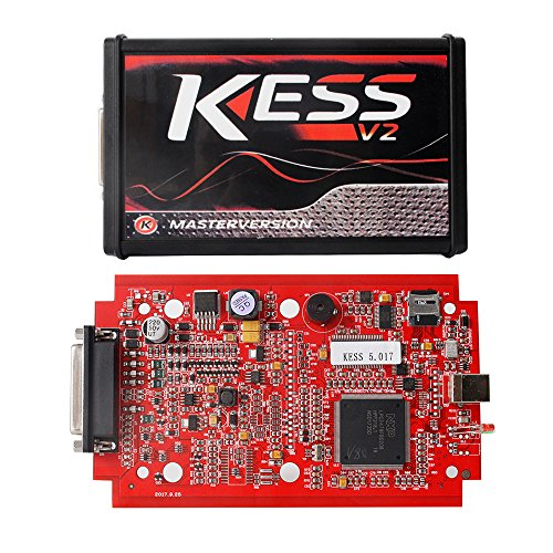 Online EU Version Red KESS V5.017 SW V2.23 MASTER OBD2 Manager Tuning Kit No Token Limitation ECM Titanium Software Car Truck ECU Programmer