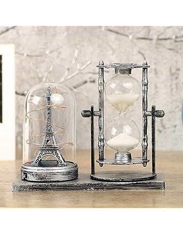 Zyhlf Italiano Europeo Retro Torre Reloj de Arena, Adornos Luminosos Quicksand decoración de Escritorio Regalos