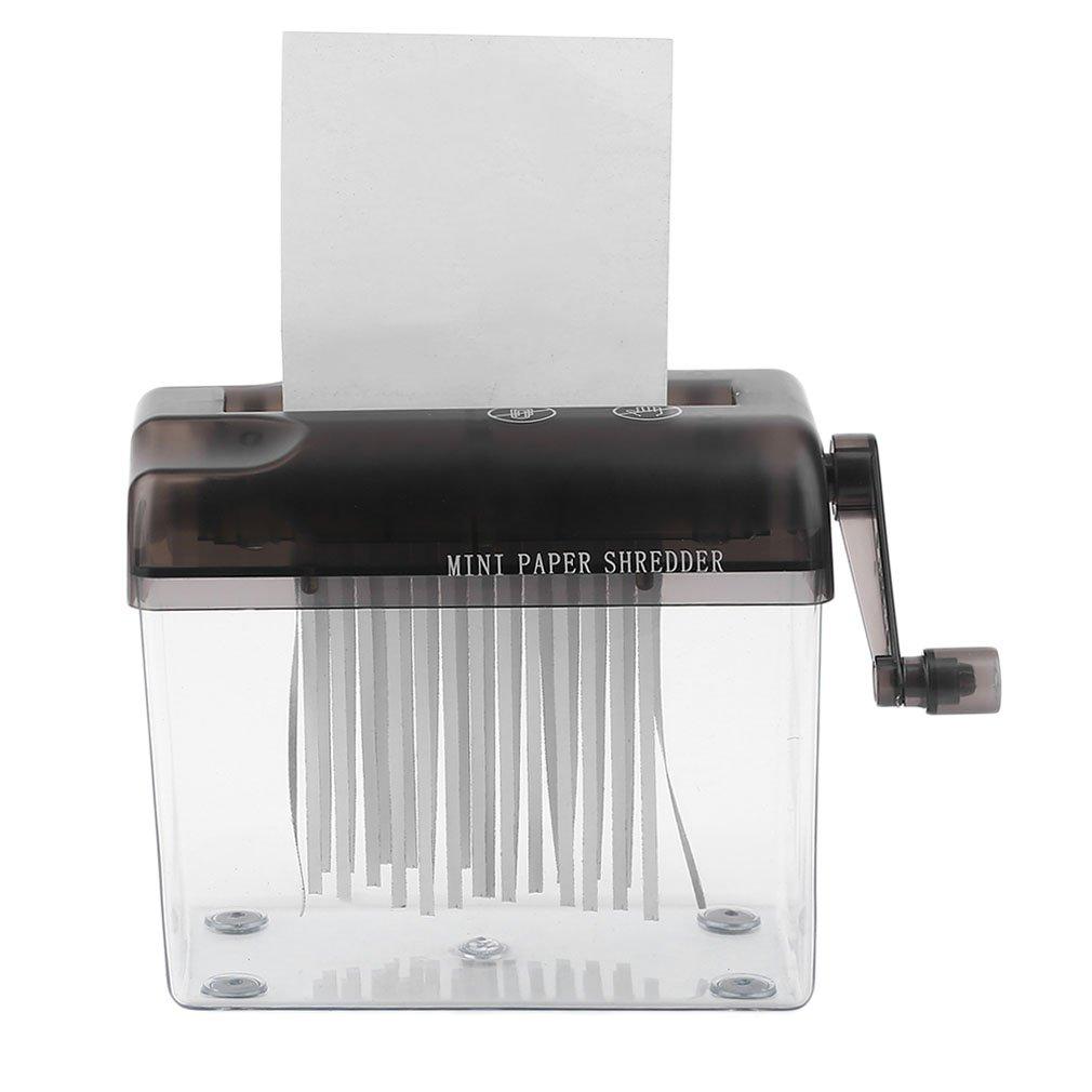 bemodst® Praktische Mini Kleine Desktop Manueller Aktenvernichter Hand schneiden für A4-Papier, Rechnungen