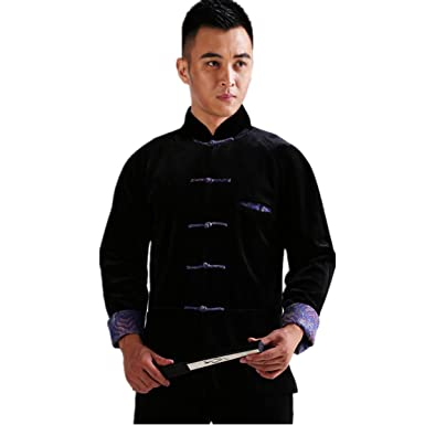 WEISAN Mens Chinese Traditional Tang Suit Velvet Chinese Kung Fu Costume Coat  sc 1 st  Amazon.com & Amazon.com: WEISAN Mens Chinese Traditional Tang Suit Velvet Chinese ...
