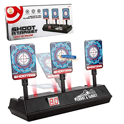 USAMS Electronic Scoring Target for Nerf N-Strike Elite/Mega/Rival Series Kids Toy Auto-Reset Intelligent Light Sound Effect Scoring Target for Mega & Rival Series (Only Target): Toys & Games