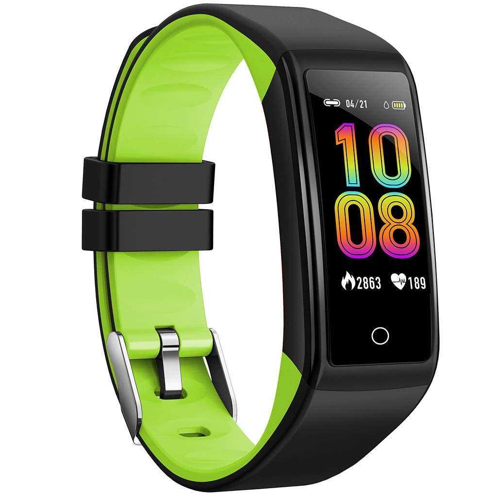 WELCOMEUNI Smart Watch for Android iOS Sports Fitness Calorie Wristband Wear Heart Rate Monitor Sleep Trackers