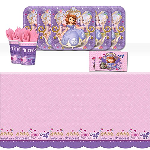 BirthdayExpress Sofia The First Childrens Party Tableware Pack for 8 -