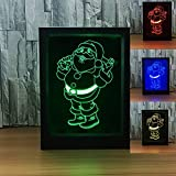 3D Santa Claus Photo Frame illusion lamp Remote Switch LED Night Light USB Desk lamp Decoration Acrylic Night Light