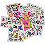 My Little Pony Temporary Tattoos - 75 Tattoos - Twilight Sparkle, Rainbow Dash, Fluttershy, Pinkie Pie, Applejack, Rarity, Spike the Dragon, Princess Celestia, and Princess Luna!