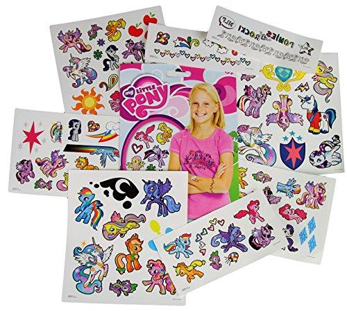 Hasbro My Little Pony Temporary Tattoos - 75 Tattoos - Twilight Sparkle, Rainbow Dash, Fluttershy, Pinkie Pie,...