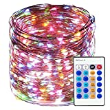 LED String Lights 99ft 300 LEDS Waterproof Copper Wire Fairy Light Remote Control Decorative Lighting for Christmas Tree,Festival Holiday,Party,Garden,Wedding,Indoor& Outdoor,Home,Patio (Multi-color)