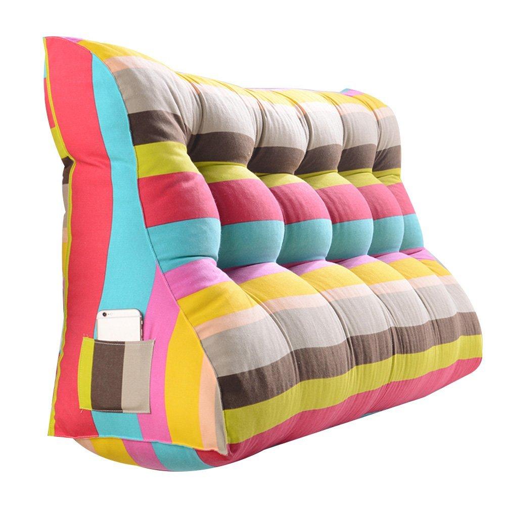 GXY Doppel-Kopf-Dreieck Kissen Kissen Tatami Kissen Lendenkissen Sofa Zurück Weiche Tasche Bett Große Taille Kissen (Farbe : 7#, größe : 180x30x60cm)