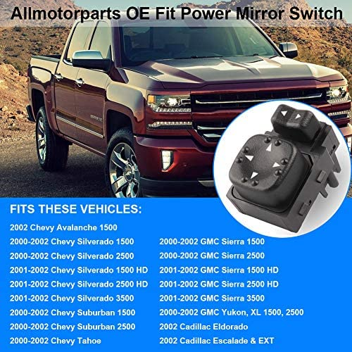 Power Mirror Switch Two Button for Silverado Sierra Tahoe Yukon Suburban Yukon
