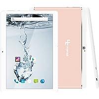 Yuntab K17 Tablet táctil IPS 10.1 Pulgadas 3G WiFi PC Aleación Metal atrás Quad-Core Android 1GB + 16GB Dual SIM Card Slots,GPS,WiFi,Youtube Netflix,Batería 5000Mha(Oro Rosa)