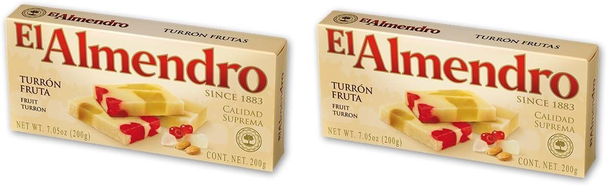 El Almendro - Pack incluye 2 Turrón Frutas - 200 gr Calidad suprema Sin gluten: Amazon.es: Alimentación y bebidas