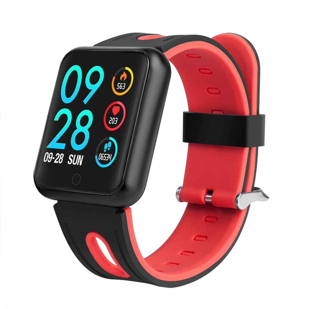 Rouge ZLOPV Montre Intelligente IP68 bleutooth Smart Watch Femmes Fitness Bracelet Activité Tracker Moniteur de Fréquence Cardiaque Pression Artérielle pour Android Apple iPhone