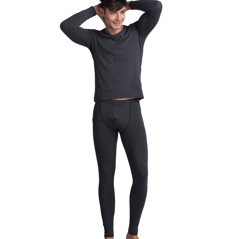 Godsen Mens Cotton Thermal Underwear Long Johns Sets Base Layer 8521801
