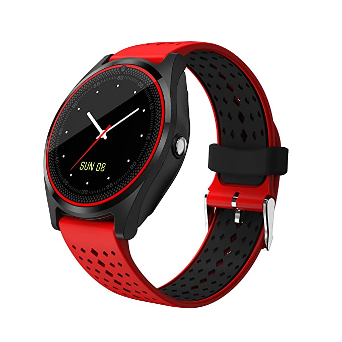 Amazon.com: V9 Smart Watch Men Women with Camera Bluetooth ...