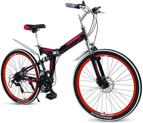 LETFF Bicicleta Plegable De Montaña para Adultos, Bicicleta ...