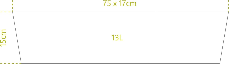 Emsa Balcone 959502400 Cassetta per Fiori 50 cm Colore Marrone