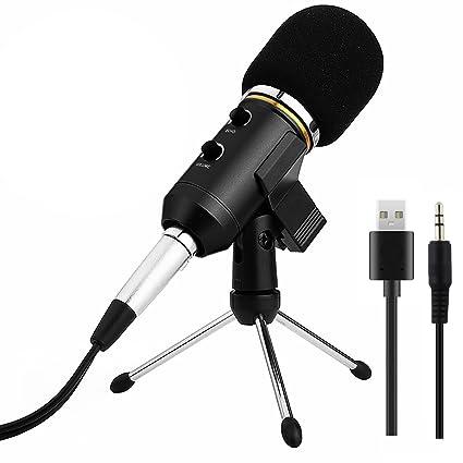Microfono de Grabacion, ARCHEER USB Microfono de Condensador Profesional , para PC / Ordenador Portátil