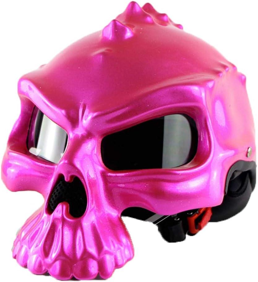 Dual Use Half Face Retro Classic Motorradhelm QPFH Sch/ädel Motorradhelm Adult Rider Schutzausr/üstung f/ür M/änner /& Frauen