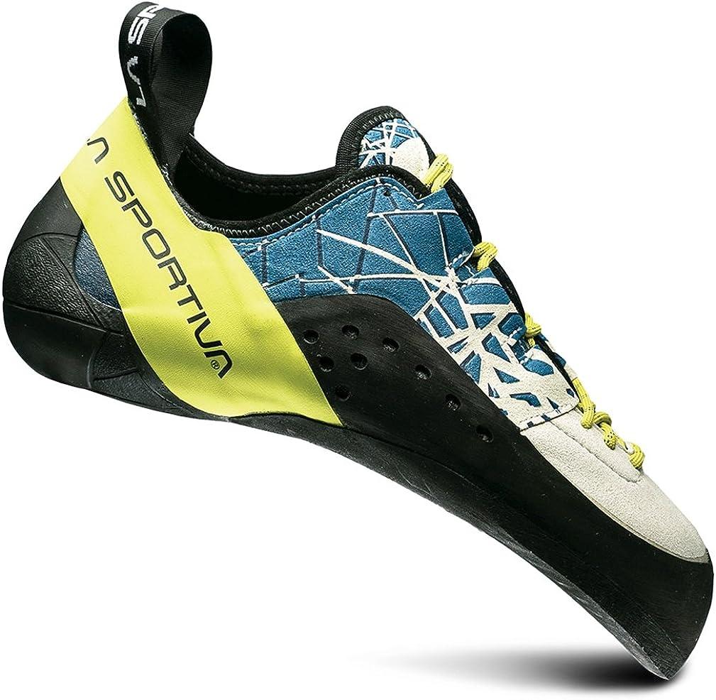 La Sportiva Men's KATAKI Climbing Shoe, Ocean/Sulphur, 40.5