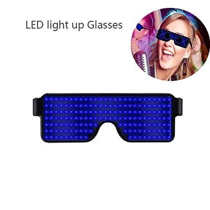 NWHEBET Rock Gafas de Sol Gafas de Luminosas LED Neon ...