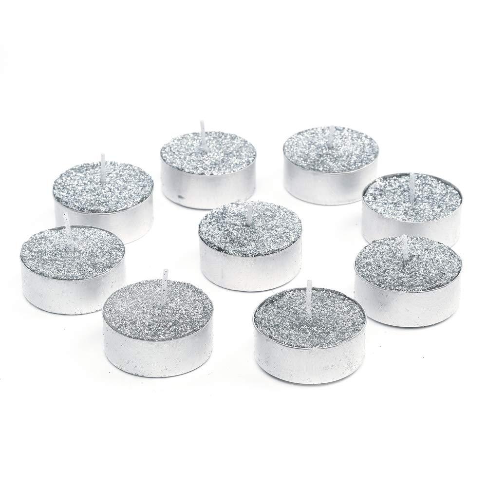 Bellè ra Set 9 Candele Natalizie Tealight Argento - Dimensioni: 4x4x2 - Colore: Argento Bellèra