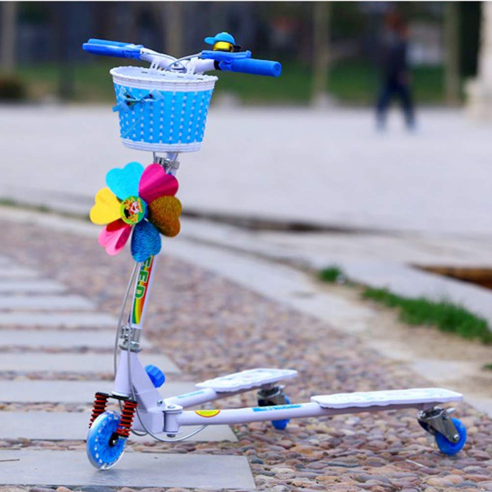 LIOOBO 1 Pc Fashion Lovely Bike Basket Handmade Knitted Bownoft Front Basket f/ür Kinder Fahrrad