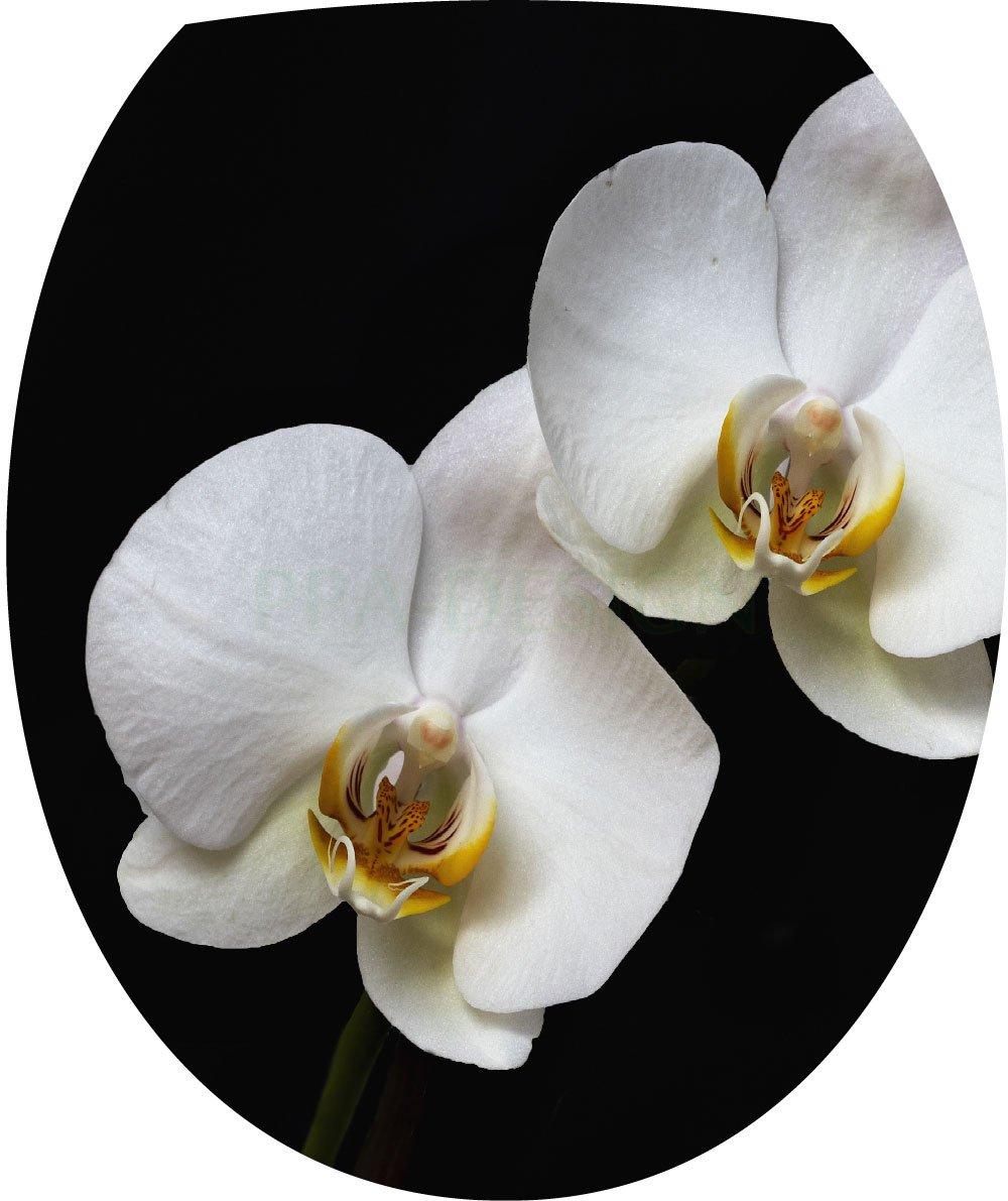 Sticker Autocollant Abattant WC Orchid/ée 35x42cm SAWC0356