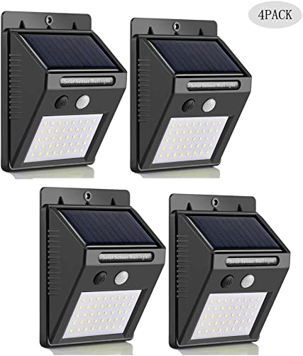 Solar Lights Outdoor 40LED,3 Optional Modes Super Bright Solar Lamps Wireless Motion Sensor Light