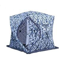 DANCHEL OUTDOOR Pop-up 4-Season Ice Fishing Shelter Tent, 2-4 Person
