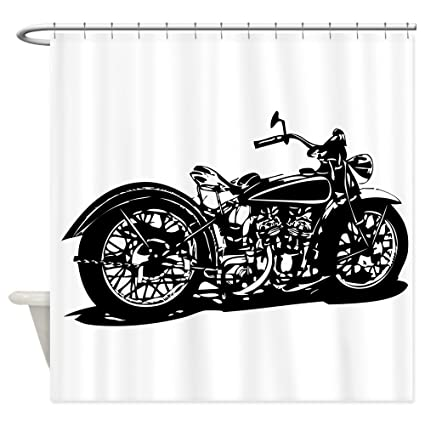 Amazon CafePress Vintage Motorcycle Shower Curtain Decorative