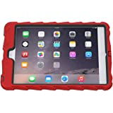 Apple iPad mini iPad mini Retina iPad mini 3 Hideaway with Stand Red Gumdrop Cases Silicone Rugged Shock Absorbing Protective Dual Layer Cover Case