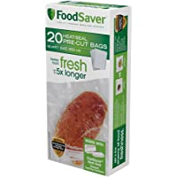 FoodSaver Precut Vacuum Seal Bags with BPA-Free Multilayer Construction for Food Preservation