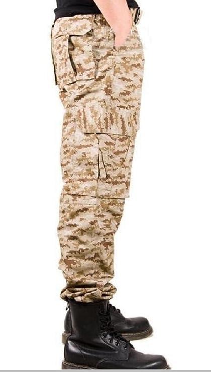 Wofupowga Mens Multi Pocket Drawstring Zip Elastic Waist Novelty Straight Cargo Pants