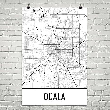 Ocala Florida Map.Amazon Com Modern Map Art Ocala Fl Map Ocala Florida Art Ocala