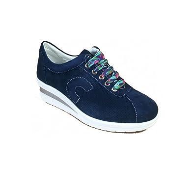 Cinzia Soft Scarpe Donna Casual in camoscio blu IV5757-A-002  Amazon.co.uk   Shoes   Bags f0d04d6a65b