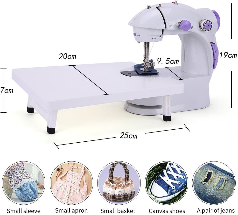 Máquina de coser, mini máquina de coser portátil de doble ...