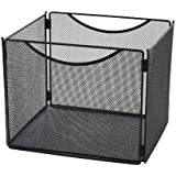 "Safco Products  2170BL Onyx Mesh Desktop Box File, 10"" Deep, Letter Size (Qty. 1), Black"