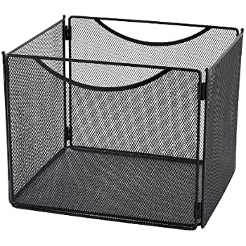 "Safco Products 2170BL Onyx Mesh Desktop Box File, 10"" Deep, Letter Size, Black"