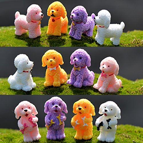 B Blesiya 10倍のミニチュア妖精の庭のマイクロ風景ミニドールハウス盆栽の装飾犬#3