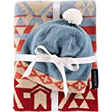 Pendleton Knit Sherpa Baby Blanket and Beanie