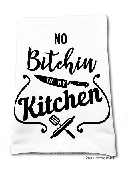 Rock Out With Your Crock Out Funny Farmhouse Flour Sack Tea Towel