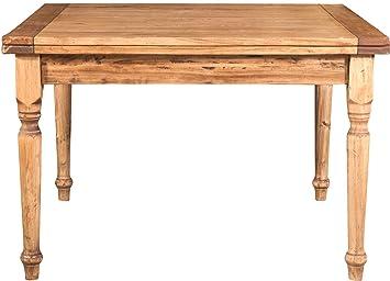 Tavolo quadrato allungabile a libro - Legno massello di tiglio ...