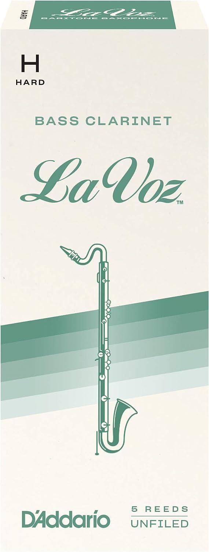Strength Medium 10-pack D/'Addario Woodwinds La Voz Bass Clarinet Reeds REC10MD