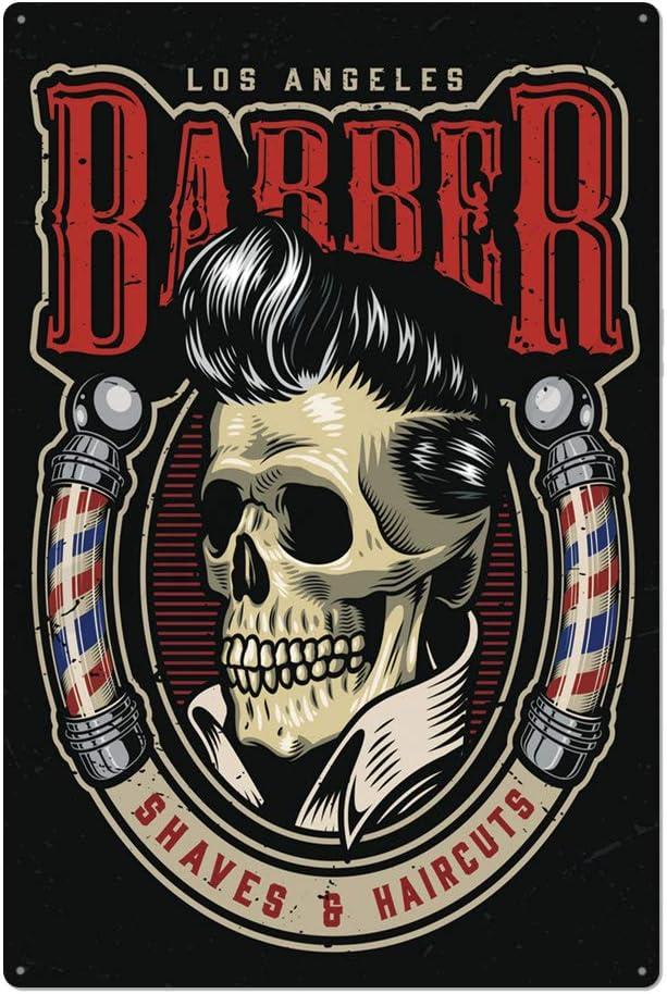 home decor shopping barber haircut shaves metal tin sign