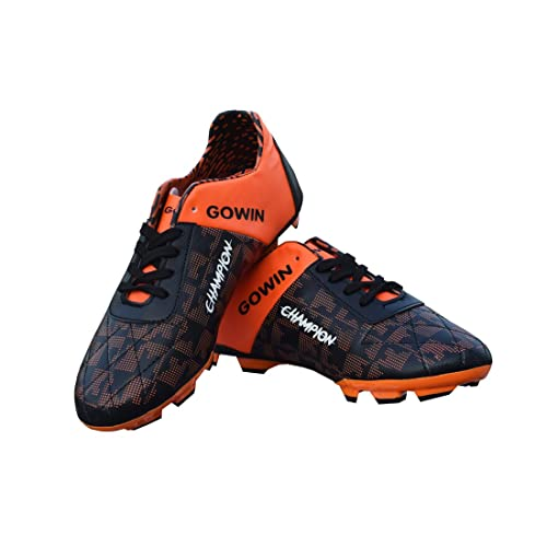 d6978f155b1 Gowin Champion Black Orange Football Shoes Size-4  Buy Online at Low ...